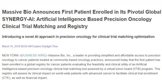 Artificial Intelligence Precision Oncology