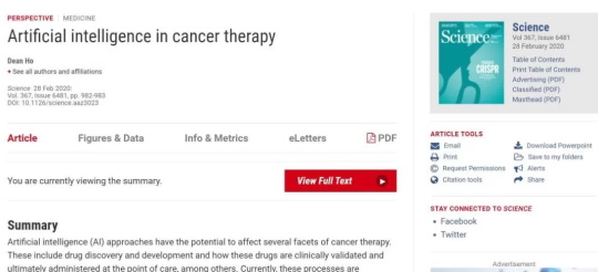 artificial intelligence in cancer therapy