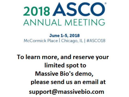 Meet Massive Bio at ASCO 2018