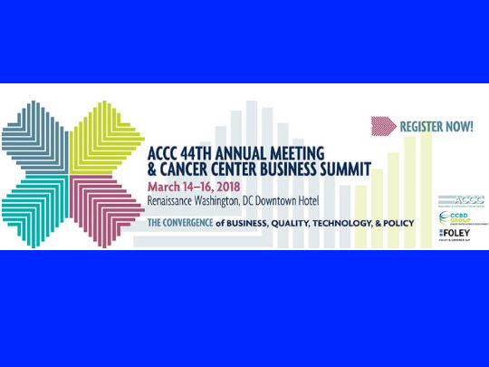 Massive Bio attends, as well as sponsors the ACCC 44th Annual Meeting and Cancer Center Business Summit