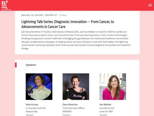 PHL Innovation Fest Cancer Care Lightning Talks